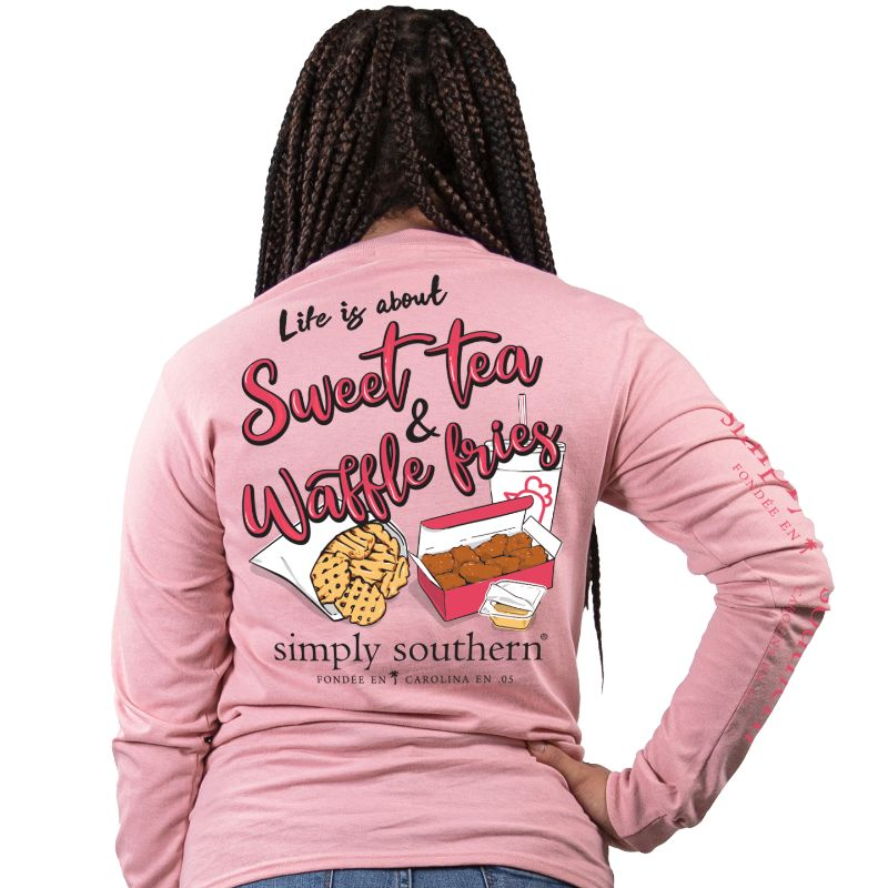 Simply Southern Sweet Crepe Long Sleeve Tee