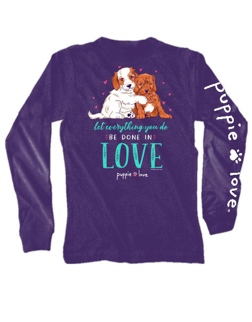 Puppie Love Love Puppies Long Sleeve Tee