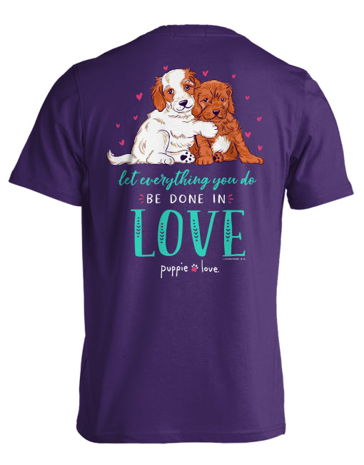 Puppie Love Love Puppies Short Sleeve Tee