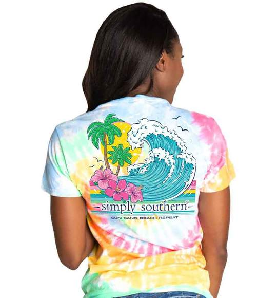 Simply Southern Repeat T-Shirt for Women in Classic Tie Dye