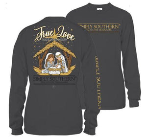 Simply Southern Youth Sized True Love was Born in a Barn Tee