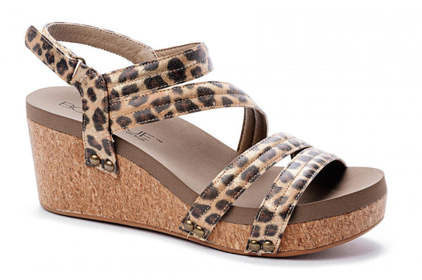 Corkys Lifeguard Wedge Gold Leopard and Silver Leopard