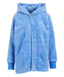 Blue Fleece Button Hoodie