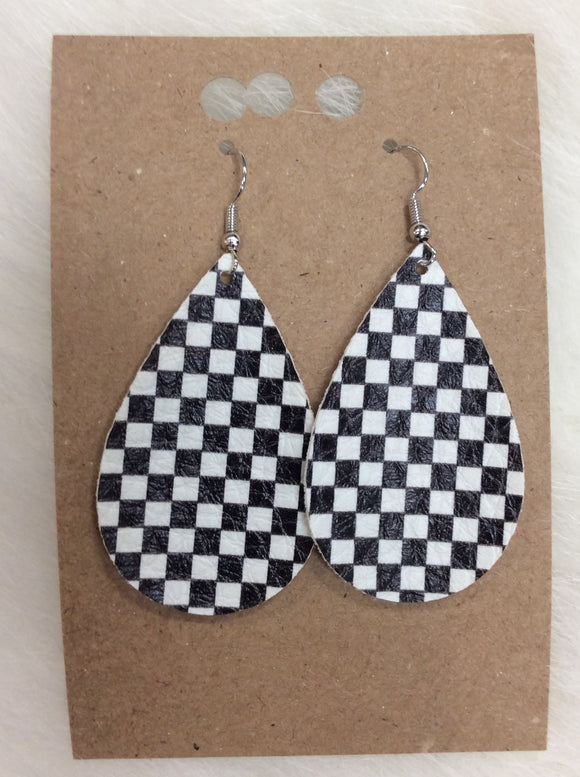 Checkered Flag Earrings