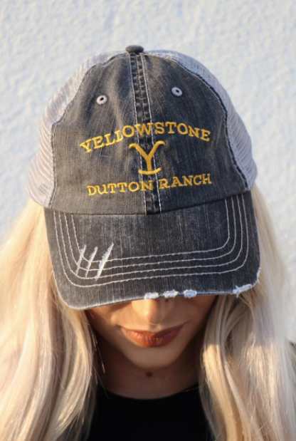 Yellowstone Dutton Ranch Embroidered Trucker Hat