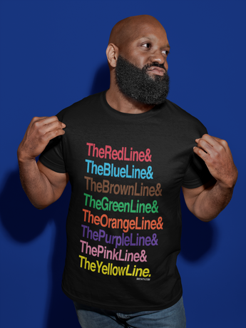 Chicago Train Line Shirt by SistaTV. L Train  Chicago El Train The Red Line The Blue Line The Brown Line The Green Line All the lines