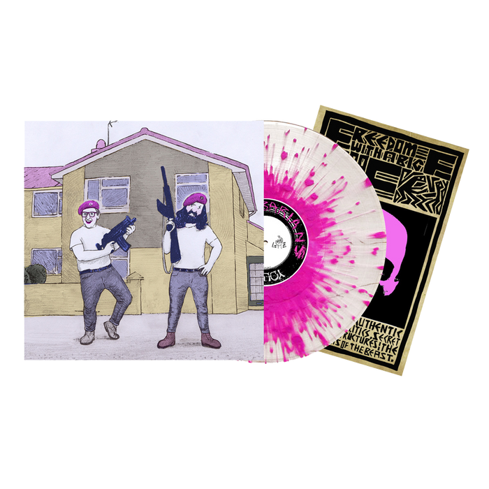 Young Knives Barbarians pink splatter vinyl.