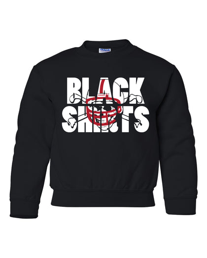 Youth Nebraska Blackshirts Crewneck Fleece Sweatshirt - Black