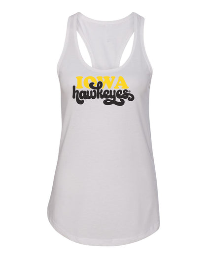 Iowa Hawkeyes Boutique Apparel - Glitter and Rhinestone Tank Tops