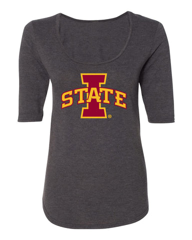 CornBorn ISU Cyclones Women's Scoop Neck Tee Shirt