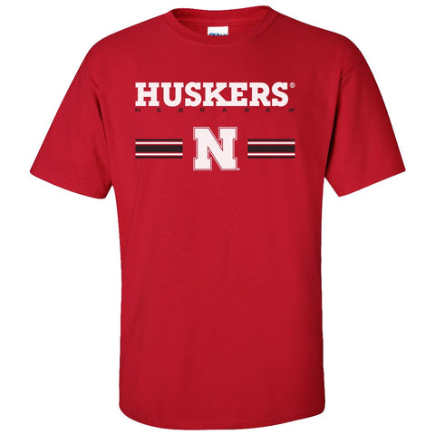 Mens Huskers Apparel Short Sleeve Tee Shirts