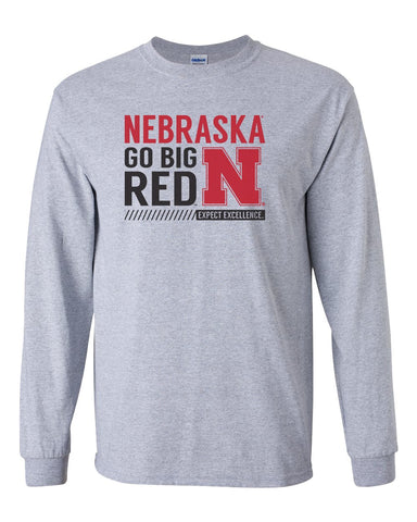 Mens Huskers Apparel Long Sleeve Tee Shirts