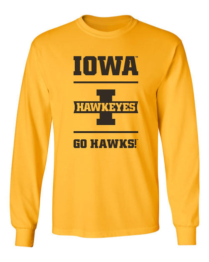Mens Hawkeyes Apparel Long Sleeve Tee Shirts