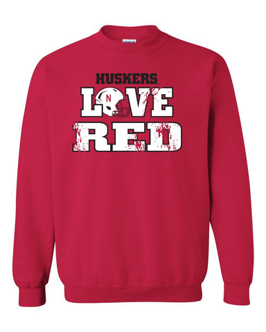 Mens Huskers Apparel Crewneck Sweatshirts