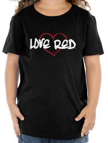 "Nebraska Toddler Tee Shirt - ""Love Red"" Red Heart"