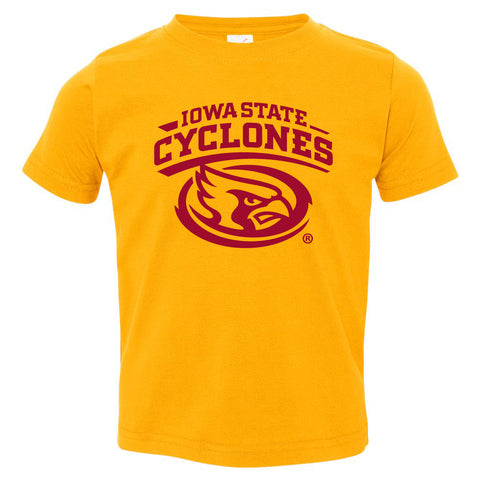 Iowa State Cyclones Toddler Tee Shirt - Cy The ISU Cyclones Mascot Swirl