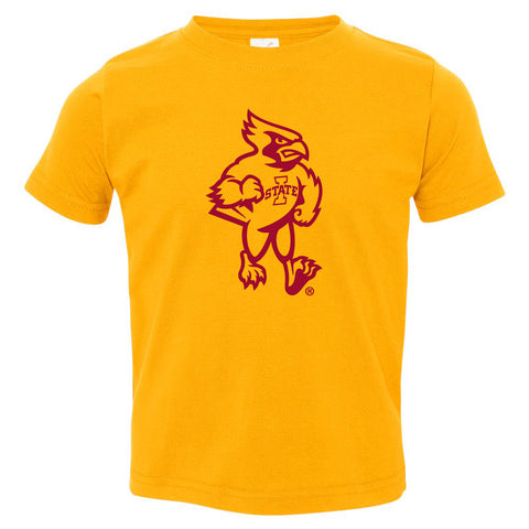 Iowa State Cyclones Toddler Tee Shirt - Cy The ISU Cyclones Mascot Full Body