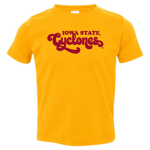 Iowa State Cyclones Toddler Tee Shirt - Retro ISU Script Cyclones