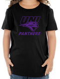 Northern Iowa Panthers Toddler Tee Shirt - Purple UNI Panthers Logo on Black