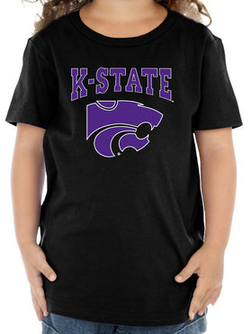 K-State Wildcats Toddler Tee Shirt - K-State Powercat with Outline
