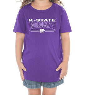 K-State Wildcats Toddler Tee Shirt - Wildcats with 3-Stripe Powercat