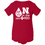 Nebraska Husker Onesie - Just A Drop In The Sea Of Red