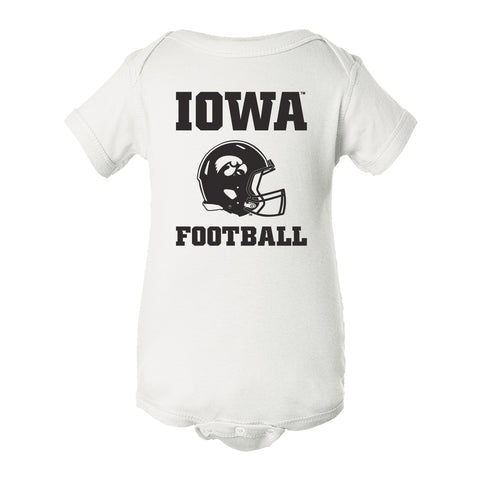Iowa Hawkeyes Infant Onesie - Iowa Football Helmet on White