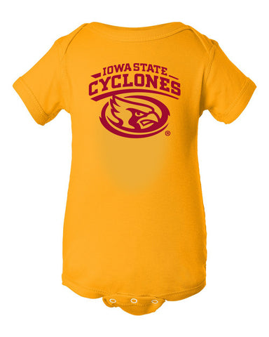 Iowa State Cyclones Infant Onesie - Cy The ISU Cyclones Mascot Swirl