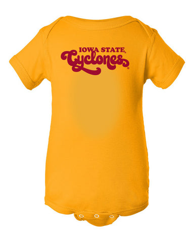 Iowa State Cyclones Infant Onesie - Retro ISU Script Cyclones