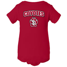 South Dakota Coyotes Infant Onesie - COYOTES with Primary USD Logo