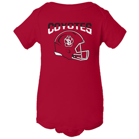 South Dakota Coyotes Infant Onesie - USD Football Helmet