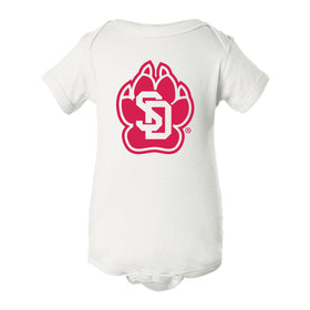 South Dakota Coyotes Infant Onesie - SD Coyote Paw