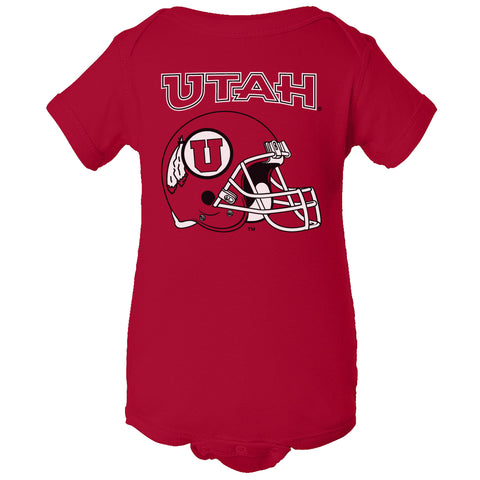 Utah Utes Infant Onesie - Utah Utes Football Helmet