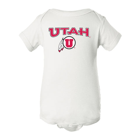 Utah Utes Infant Onesie - Circle & Feather Logo