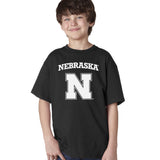 Nebraska Cornhuskers Block N Youth Boys Tee Shirt