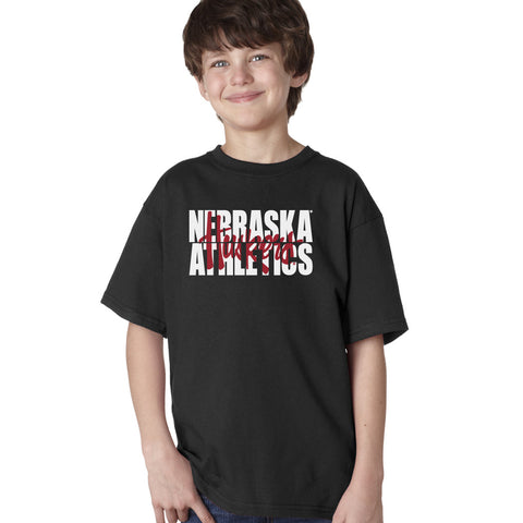 "Nebraska Athletics Legacy Script ""Huskers"" Youth Boys Tee Shirt"