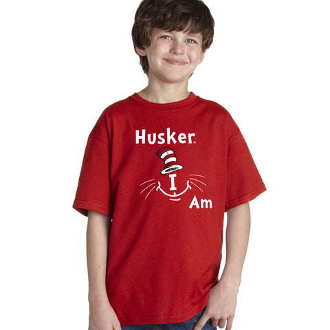 "Nebraska Cornhuskers ""Husker I Am"" Youth Boys Tee Shirt"