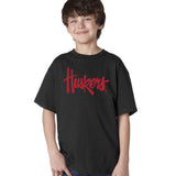 "Nebraska Legacy Script ""Huskers"" Youth Boys Tee Shirt"