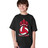 Nebraska Huskers Boys Tee Shirt - Nebraska Huskers Volleyball Crown