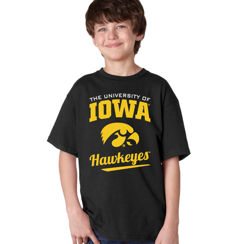 Iowa Hawkeyes Boys Tee Shirt - The University Of Iowa Script Hawkeyes
