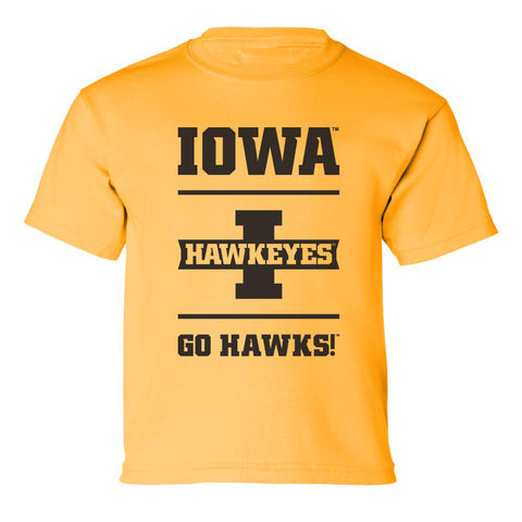 Iowa Hawkeyes Boys Tee Shirt - Iowa Hawkeyes - Go Hawks