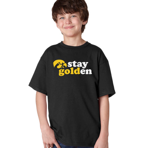 Iowa Hawkeyes Boys Tee Shirt - Hawkeyes Stay Golden