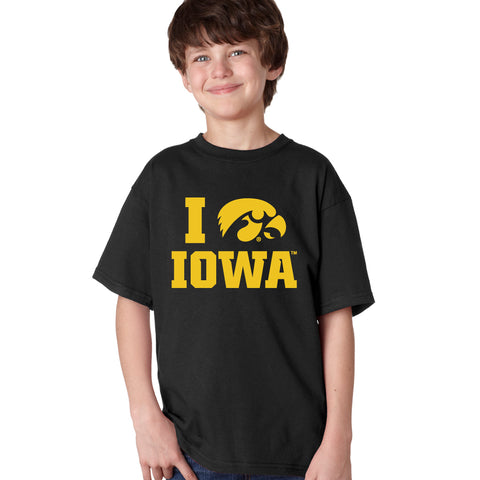 Iowa Hawkeyes Boys Tee Shirt - I Love IOWA