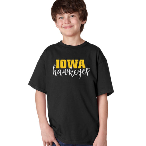 Iowa Hawkeyes Boys Tee Shirt - Iowa Script Hawkeyes