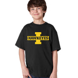 Iowa Hawkeyes Boys Tee Shirt - Block I with HAWKEYES