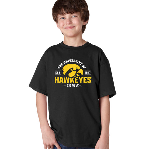 Iowa Hawkeyes Boys Tee Shirt - The University of Iowa Hawkeyes EST 1847