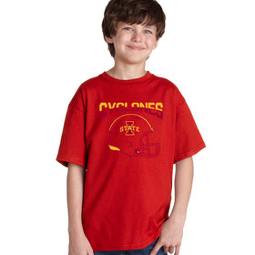 Iowa State Cyclones Boys Tee Shirt - ISU Cyclones Football Helmet