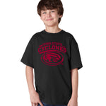 Iowa State Cyclones Boys Tee Shirt - Cy The ISU Cyclones Mascot Swirl