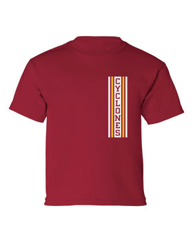Iowa State Cyclones Boys Tee Shirt - Vertical Stripe CYCLONES