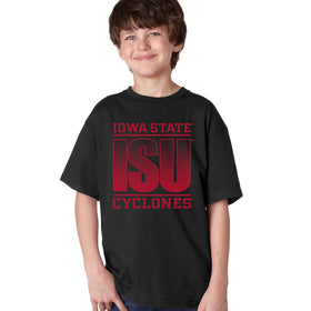 Iowa State Cyclones Boys Tee Shirt - ISU Fade Red on Black